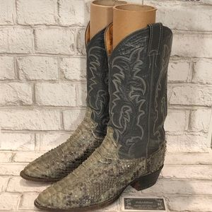 Justin Python Leather Cowboy Boots